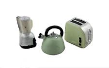 Poupées Maison Bouilloire Toaster & Mixeur Miniature Moderne Cuisine Accessoire