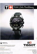Publicité advertising 2014 La Montre Tissot T Touch expert