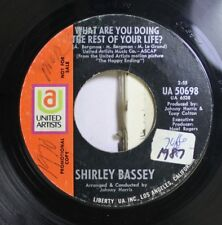 Pop Promo 45 Shirley Bassey - What Are You Doing The Rest Of Your Life / Somethi