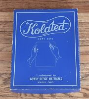 KOLATED COPY SETS GOWDY OFFICE MATERIALS TOLEDO OHIO Vintage carbon Paper box
