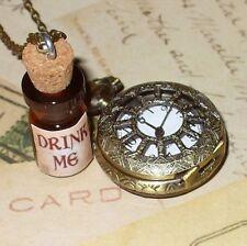DRINK ME tea Watch necklace pendant Alice in Wonderland by umbrellalaboratory