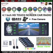 4''1 Din Car Radio+Camera AM/FM/RDS MP5 Player Mirror Link Stereo AUX Bluetooth