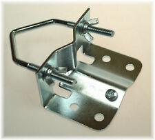 1x BayWorld Mast Fuß SAT-Bodenschelle Erdung Stahl verzinkt M8x60mm Antennenmast