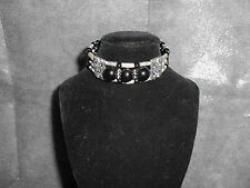 Tibetan Silver Black Beaded Bracelet (341)