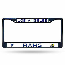 Los Angeles La Rams NFL Navy Blue Color Painted Chrome Metal License Plate Frame