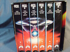 Star Trek The Movie Collection VHS All 6 Star Trek Movies in Display Box