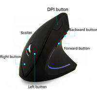Wireless Mouse Ergonomic Optical 2.4G 800/1200DPI Vertical Mice High Sensitivity