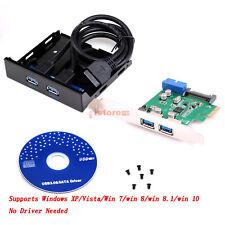 USB 3.0 2-Port PCI Express Card USB 3.0 PCI-E PCI Front Panel Expansion Bay