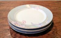 "MIKASA FINE CHINA CHARISMA GRAY LOT OF 4 SALAD PLATES 7-1/2"" VTG '93 #L9049 EUC"