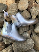 Gap Baby Todler Girl Silver Boots, Size 9 NWT