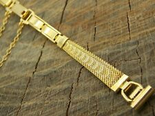 NOS Vintage Watch Band 9mm Straight Lug Butterfly Clasp Unused Stainless Mesh