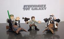 Star Wars Galactic Heroes Endor Luke & Scout Trooper w/Speeder Bike Han Solo