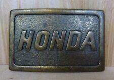 Vintage HONDA BELT BUCKLE Motorcyle Auto Car Advertising NOAG
