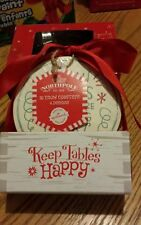 "Brand New Hallmark Northpole Snow Coasters Lot of 16 ""Keep Tables Happy"""