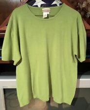 Coldwater Creek Green Short Sleeve Sweater Size XL