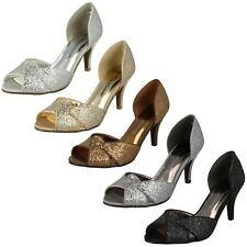 Anne Michelle Ladies Glitter Court Shoe F1R0309 Sizes UK3 x 8 (R28B) J-K