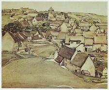 Worth Matravers village Dorset Charles Rennie Mackintosh imprimer en 10 x 12 Mount
