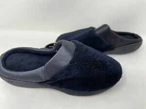 Isotoner Women's Pillow Sleps Slip On Cushioned House Slippers Blk #22605 77Q mz