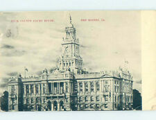 Divided-back COURTHOUSE SCENE Des Moines Iowa IA AF0184
