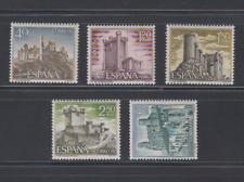 SPAIN (1968) MNH COMPLETE SET SC SCOTT 1538/42 CASTLES