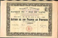 """RARE => BANQUE du """"BAS DE LAINE"""" (R)"""