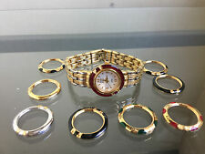 wannawatch: USED ANNE KLEIN Interchangeable Bezel Reversible Band Swiss Watch