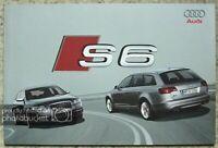 AUDI S6 SALOON & AVANT Car Sales Brochure March 2006 #633/1100.62.25