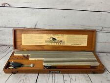 Vintage Keuffel & Esser LEROY Lettering Set Drafting Kit in Wood Case