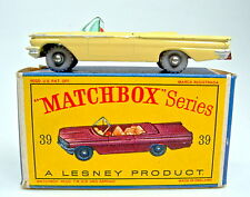 "MATCHBOX RW 39b Pontiac Convertible GIALLO ROSSA BPL. GRIGIA ruote con ""D"" BOX"