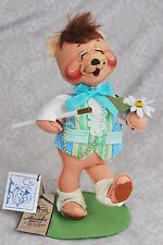 """10"""" Annalee EASTER PARADE BOY BEAR   Made in Meredith, NH  USA   Exc."""