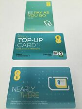 EE £10 pack 4G new multi pack Pay As You Go Sim Pack Trio -(buy 1 get 2 free)