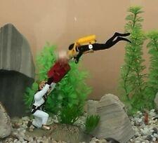 "New 4"" Air Action *Treasure Diving* Aquarium Ornament Fish Tank Decoration 0-76"
