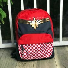 Backpack Kid's Vans x Marvel Captain Racing Red Blue Gold VN0A3QXFIZQ