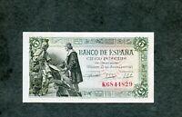 BILLETE 5 PESETAS 1945 SERIE  K6844829  EBC