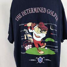 Warner Bros Taz Determined Golfer T-Shirt XL Vtg 90s Studio Store New Deadstock
