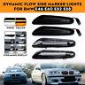2x LED Dynamic Flowing Side Marker Turn Signal Light For BMW E46 E60 E82 E90 E92