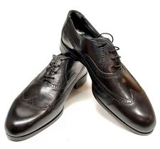 Vintage Deadstock OAKWOODS Longwing Balmoral Black Shoes Made In USA