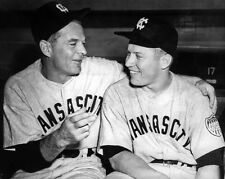 1951 Kansas City Blues MICKEY MANTLE & GEORGE SELKIRK Glossy 8x10 Photo Poster