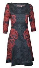 Desigual elegante vestido gris oscuro-rojo oscuro talla M = de 36 modelo Vest foyie
