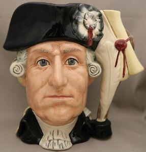 "Royal Doulton 2-sided Character Jug - ""George111 and George Washington - D6749.."
