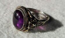 Vecchio anello cinese argento filigrana con ametista. old chinese silver ring