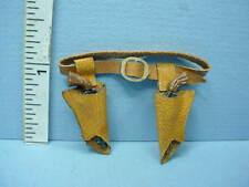 Dollhouse Miniature Orange Brown Leather Holster wi Guns Handcrafted - Prestige