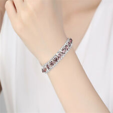 Multi Colors Crystal Zircon Rhinestone Bracelet Bangle Gift For Women Ladies JD