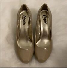 Nude Patten Leather Candies Heels size 8.5