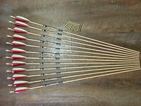 Gold Tip Traditional 340 Arrows With Brass Inserts Custom Made Set of 12