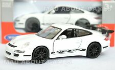 PORSCHE 911 997 GT3 RS 12 cm Opening Doors Pull Back & Go Metal Diecast White