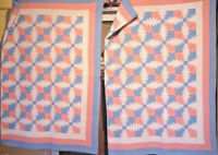 ANTIQUE PINEAPPLE  QUILT  YOUR CHOICE OF TWO  THEY MATCH !  rare find
