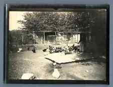A la ferme à Talence, 1915 Vintage silver print. Gironde  Tirage argentique