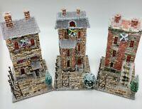 Christmas Row Houses Putz Buildings