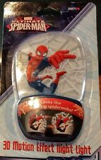 Marvel Spiderman 3-D Motion Night Light Cobwebs Jenco Collectible